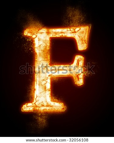 fiery font from a dust . Look at other fire illustrations in my portfolio: font, euro, dollar... - stock photo