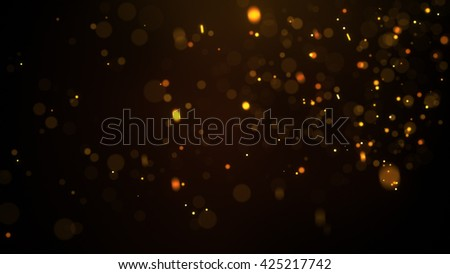 Fiery glowing particles. Computer generated abstract background