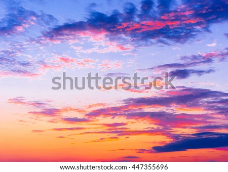 Fiery Heaven Evening Cloudscape  - stock photo