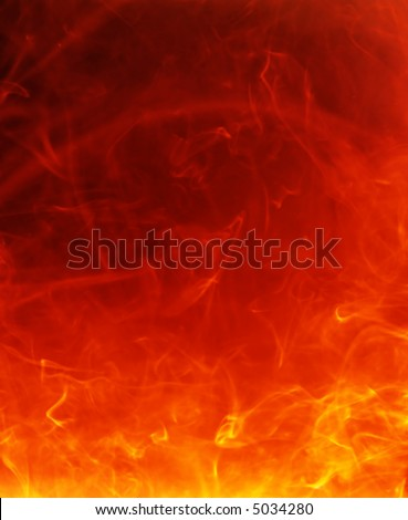 fiery hot background - stock photo