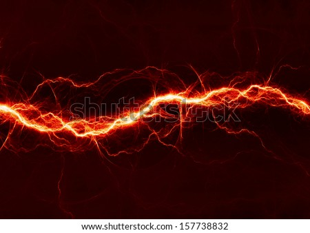 Fiery lightning - stock photo