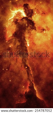 Fiery Nebula - Elements of this Image Furnished by NASA - stock photo
