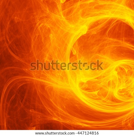 Fiery vortex. Abstract pattern background. Fractal - stock photo