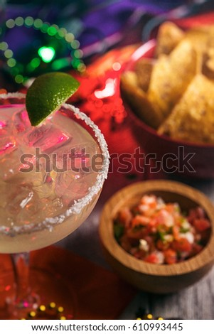 stock photo: margarita with lime