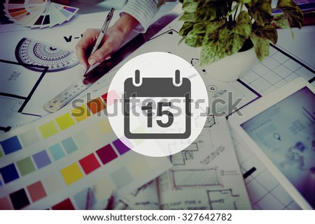 Fifteenth Appointment Memo Schedule Calendar Plan Concept - stock photo