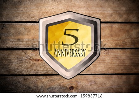 fifth anniversary - stock photo