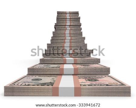 Fifty dollar banknotes background. 3D illustration. - stock photo