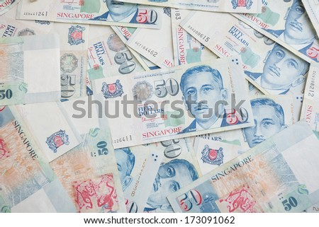 Fifty singapore dollars background