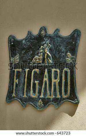 Figaro Sign - stock photo