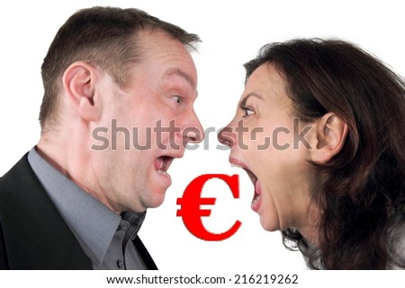 Fight over Money - stock photo