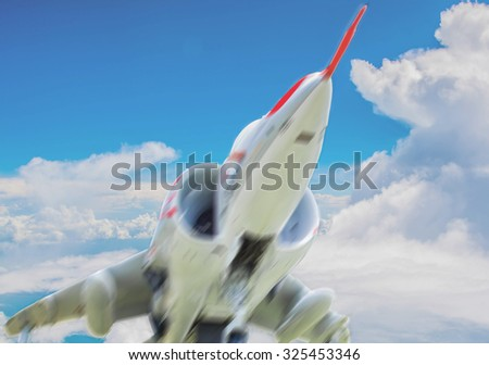 fighter blur - stock photo
