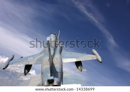 Fighter jet image taken from above