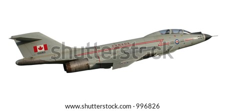 Fighter Jet Isolated - stock photo
