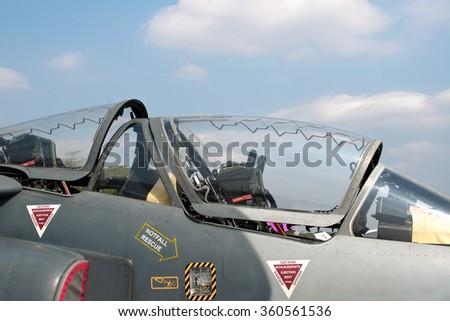 Fighterjet cockpit - stock photo