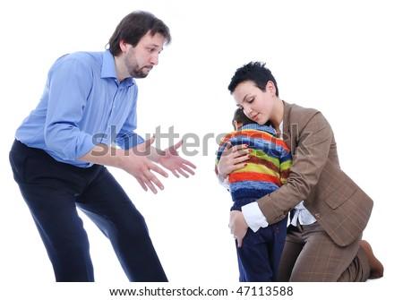 Fighting in family - stock photo