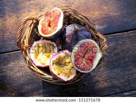 figs and passion fruit
