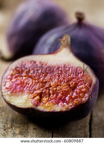 Figs Fruits close-up - stock photo