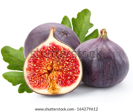 Figs fruits isolated on white background  - stock photo