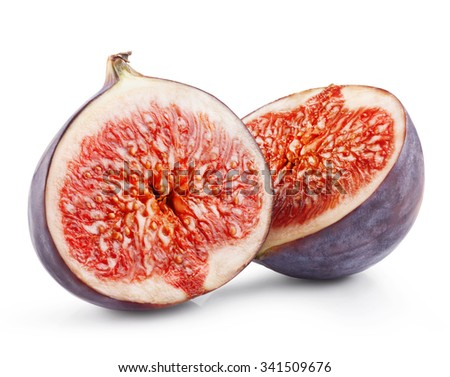 Figs fruits isolated on white background. Clipping Path - stock photo