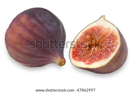 Figs isolated on the white