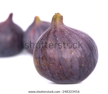 figs on white - stock photo