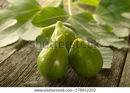 figs on wood background