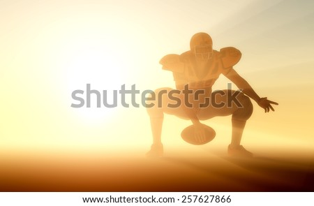 Figure Athlete with Ball in hand. - stock photo