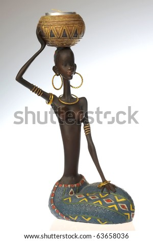 Figure of African young woman with jug