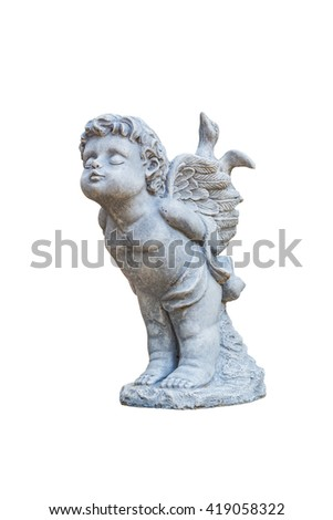 Figure of an angel isolated on a white background