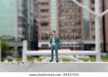 figurine/plastic fake miniature people lifestyle - stock photo