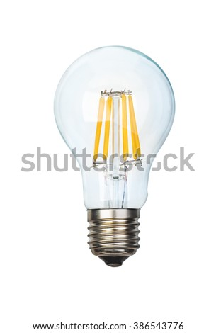 Filament LED bulb isolated on white background - stock photo