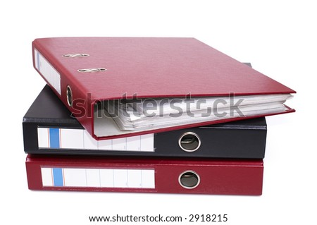 file binders isolated on white