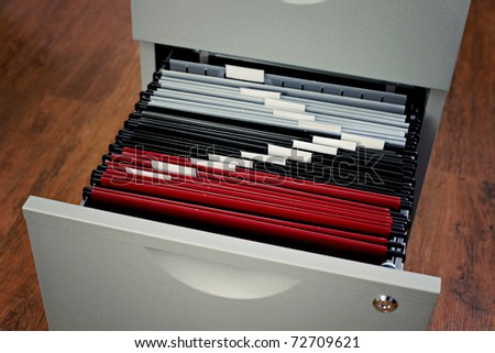 file cabinet in the office - business - stock photo