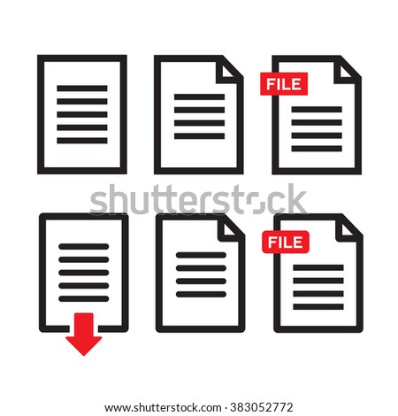 File download icon. Document text, symbol web format information - stock photo