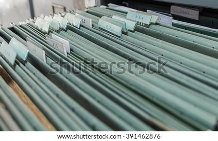 file folder, office document - stock photo