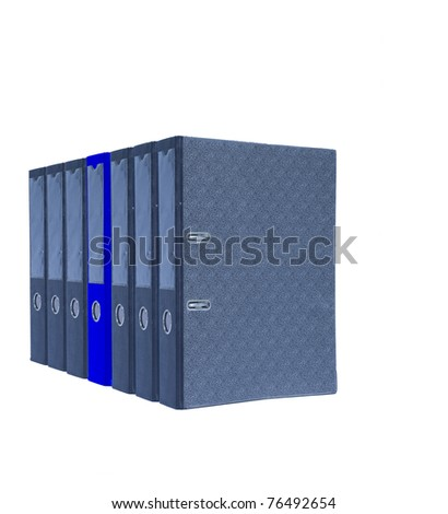 File folder to store the documents used to facilitate finding or disorder. - stock photo
