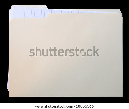 File folder with note paper - stock photo