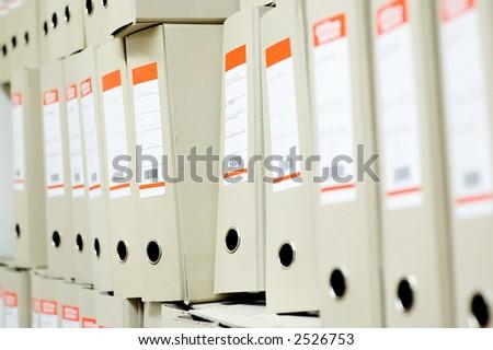 File Folders in a row - stock photo