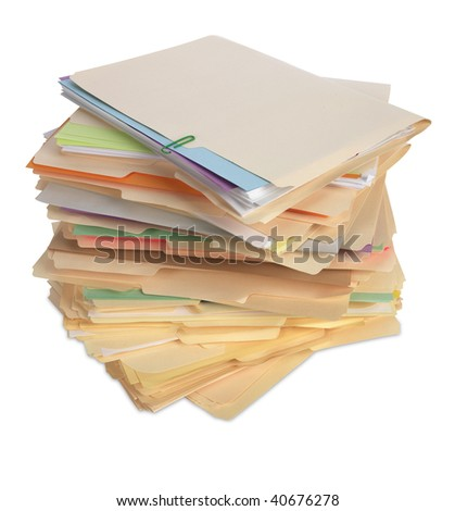File Folders Isolated - stock photo