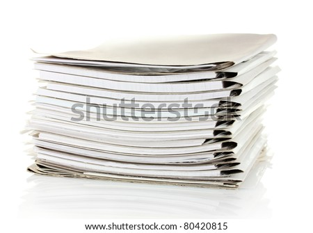 File folders on white background - stock photo