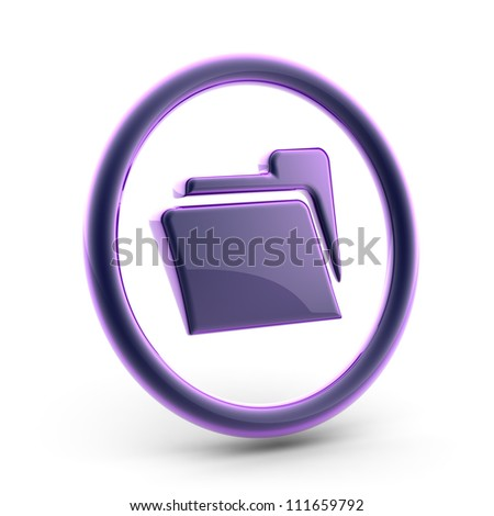 File.  Full collection of icons like that is in my portfolio - stock photo
