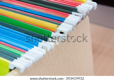 file in office (selective focus)  - stock photo