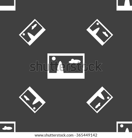 File JPG sign icon. Download image file symbol. Seamless pattern on a gray background. illustration - stock photo
