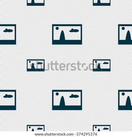 File JPG sign icon. Download image file symbol. Seamless pattern with geometric texture. illustration - stock photo