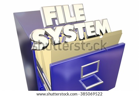 File System Folders Cabinet Operating Storage Environment