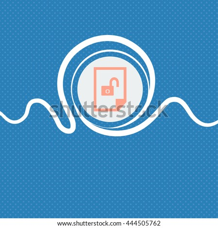 File unlocked icon sign. Blue and white abstract background flecked with space for text and your design. illustration - stock photo