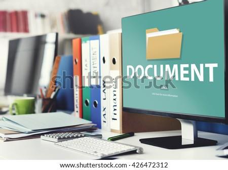 Files Index Content Details Document Archives Concept - stock photo