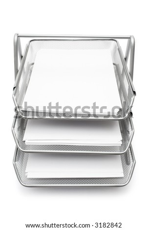 Filing Baskets - stock photo