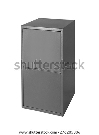 Filing cabinet islated on white - stock photo