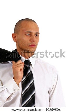 Filipino In Business Young man in stylish business fashion - over white background.